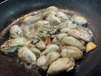 牡蠣のクリームライスペンネ